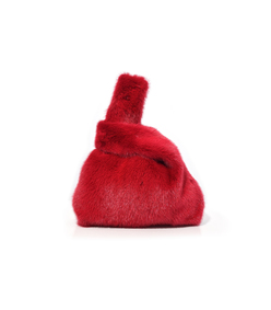 furrissima mink bag in red