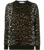 leopard crewneck pullover