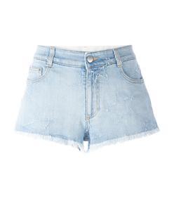 blue fringed star shorts