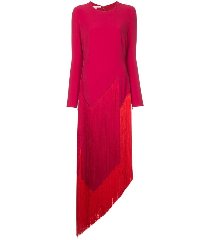 pink camille fringe dress