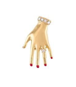 gold jeweled hand pin