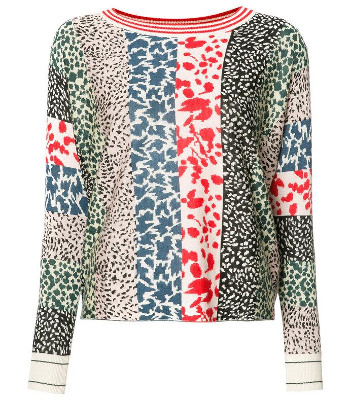 multicolor animal pattern sweatshirt