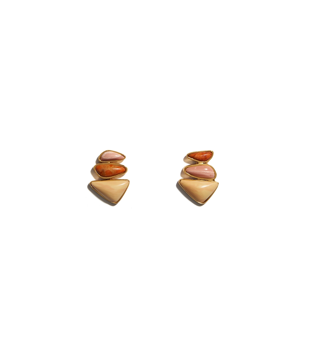 Lizzie Fortunato Multicolor Triple Sunset Studs