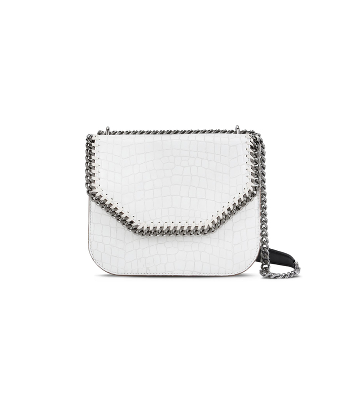 ivory 'falabella' box alter croc bag