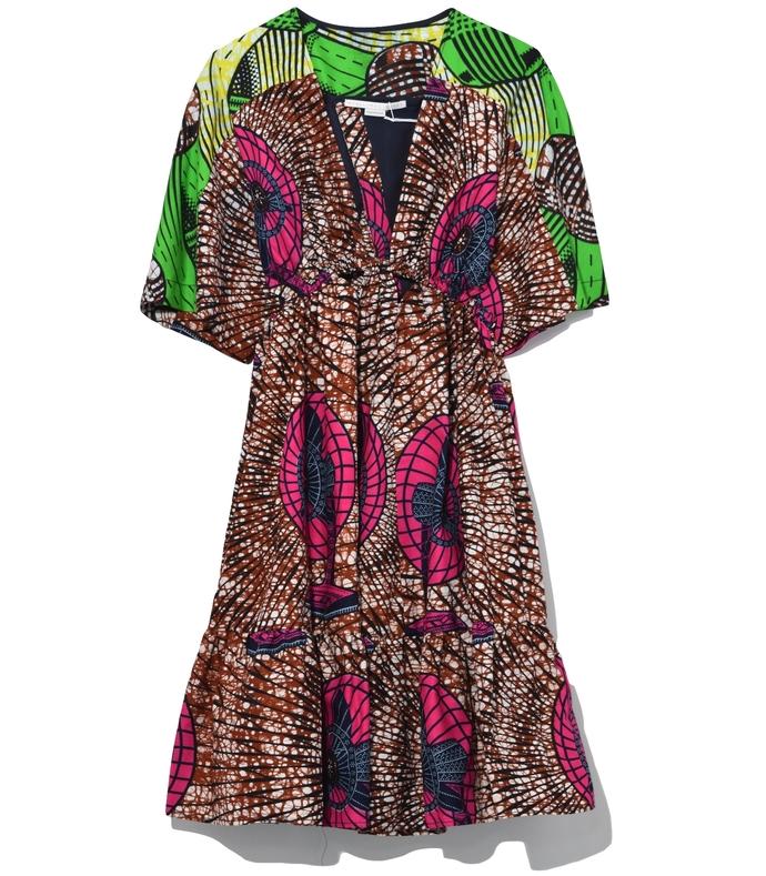 Gabrielle Dress in Dutch Fan Print 210000028145