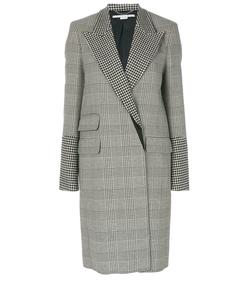 black/white houndstooth coat