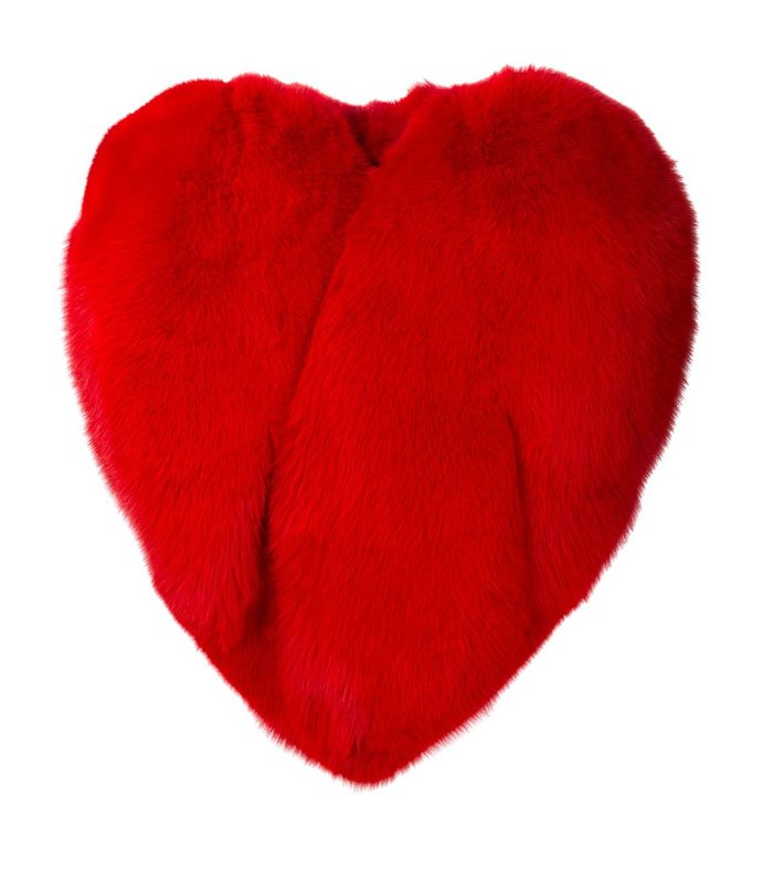 red 'heart shaped' cape