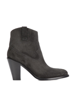 charcoal western bootie