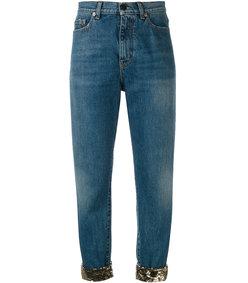 blue cropped jean