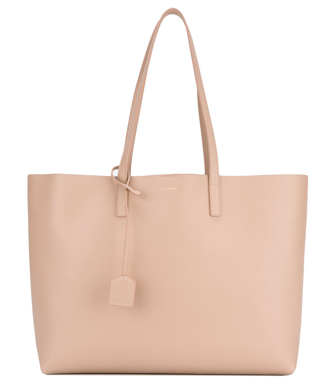 nude large shopper tote bag