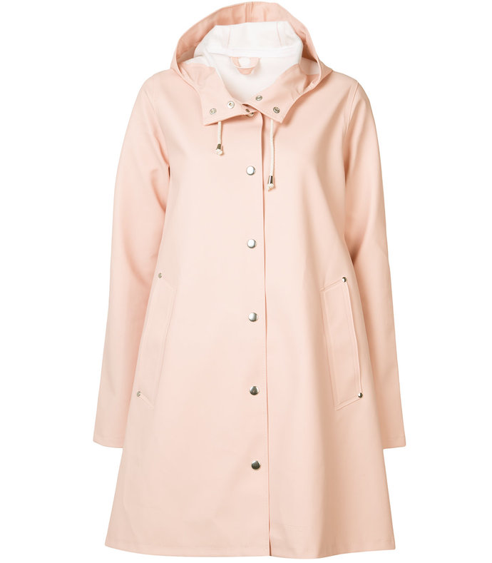 pink flared 'mosebacke' raincoat