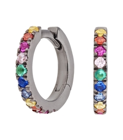 multicolor small hoop earring - set of 2