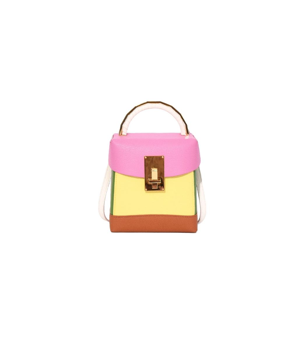 The Volon Pink/Yellow Box Basic Bag