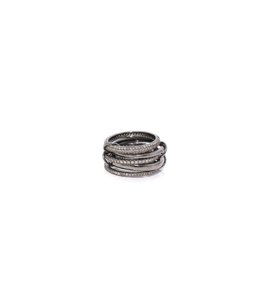 THEODOSIA 5 Part Oxidized Silver Ring