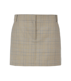 mustard multi cooper menswear mini skirt