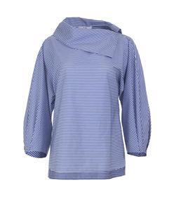 blue stripe shirting top