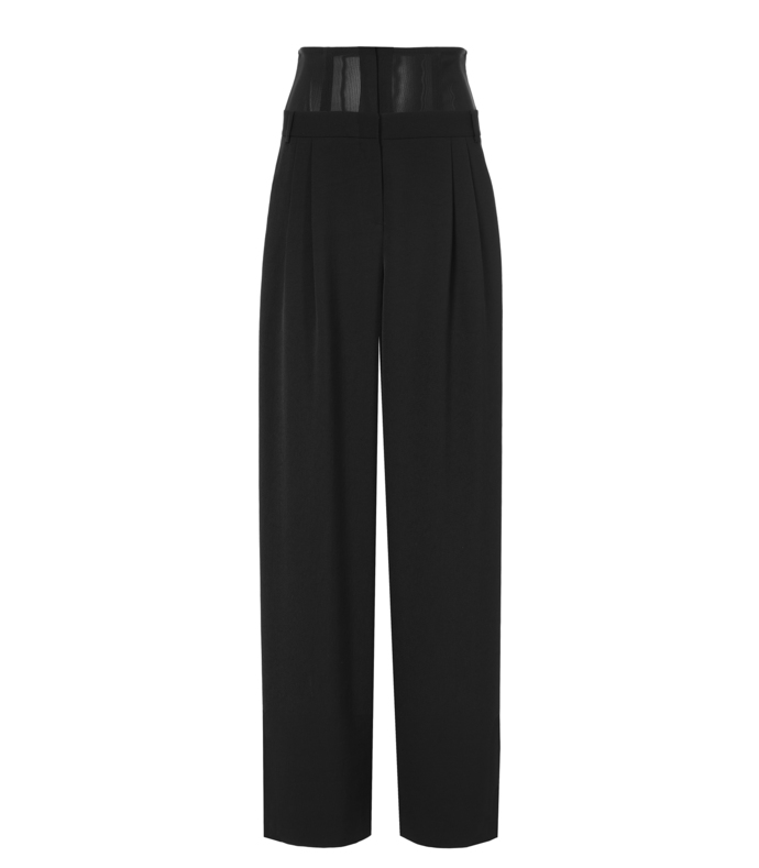 black silk corset pant