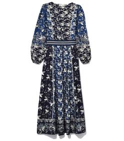 iona dress in indigo