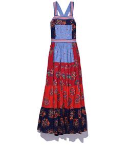 multicolor patchwork 'lune' dress