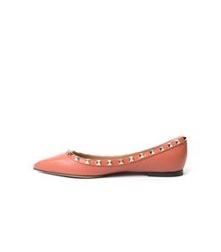 ShopBazaar Valentino Rockstud Ballet Flat FRONT
