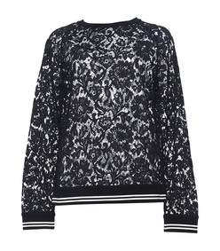 black & white lace sweatshirt