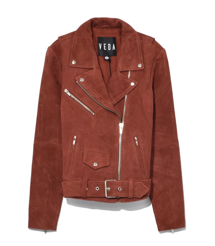 brown rust jayne suede jacket