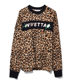 leopard/black exmouth sweatshirt