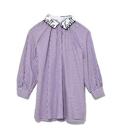 white/purple launceston top