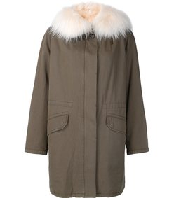 army green fur parka