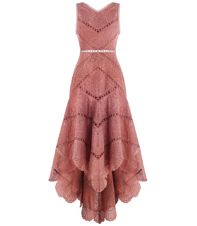 pink 'jasper' fan dress