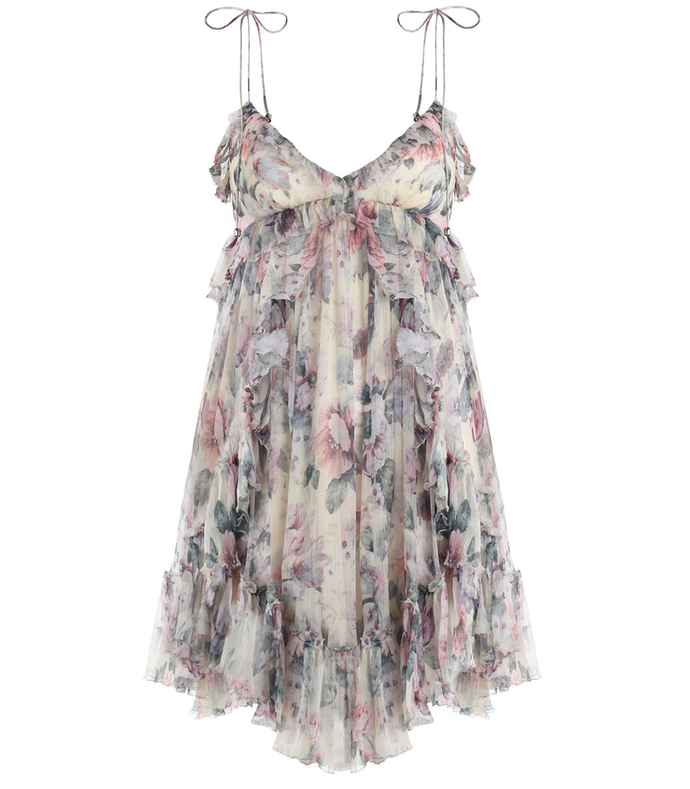 jasper floral ruffle mini dress