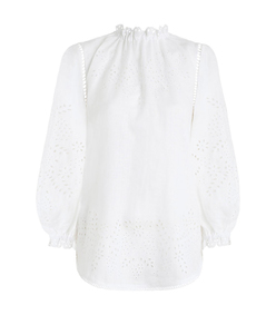 white paradiso embroidered blouse