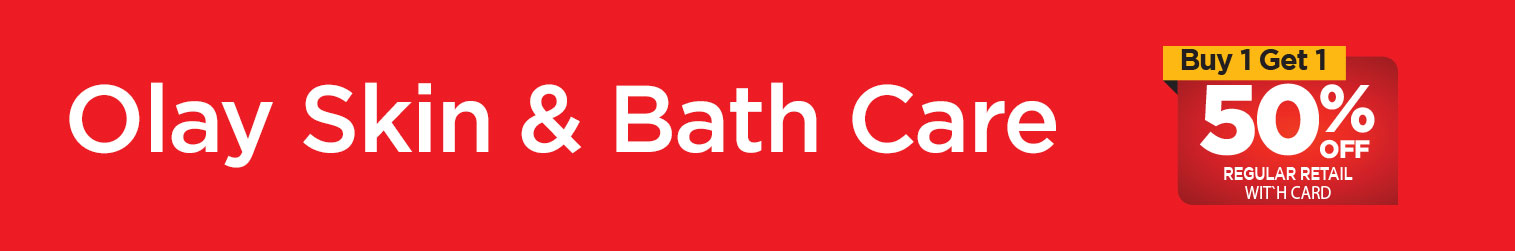 Olay Skin & Bath Care, Buy One Get One 50 percent off regular retail with card. Shop Olay Skin & Bath Care Now