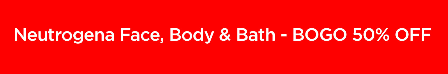 Neutrogena Face, Body & Bath, Buy One Get One 50% OFF with card. Shop Neutrogena Face, Body & Bath Now