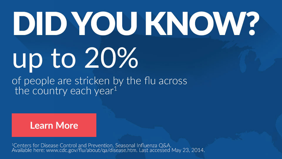 Did you know? Up to 20% of people across the country will have the flu.
