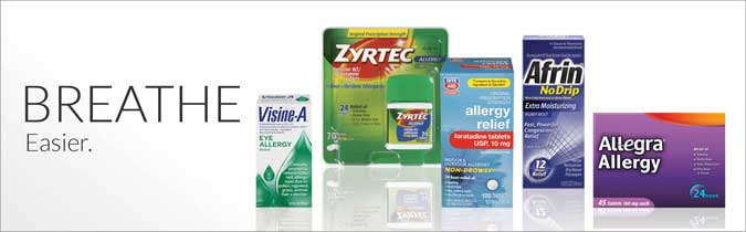 Breathe easier. Shop Allergy and Sinus Products. Shop Now.