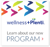 wellness callout-wellness+ with Plenti. Learn about our new program.