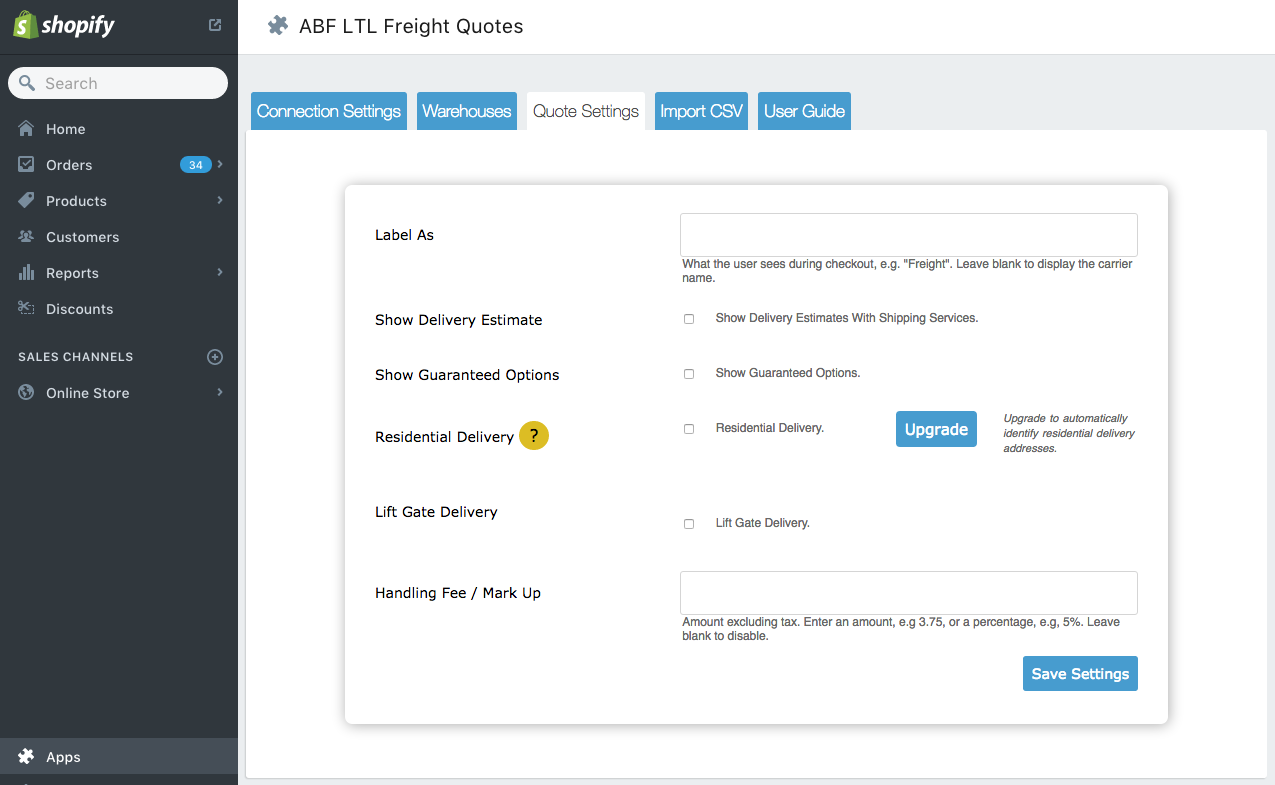 Freight Quote Com Abf Ltl Freight Quotes  Ecommerce Plugins For Online Stores