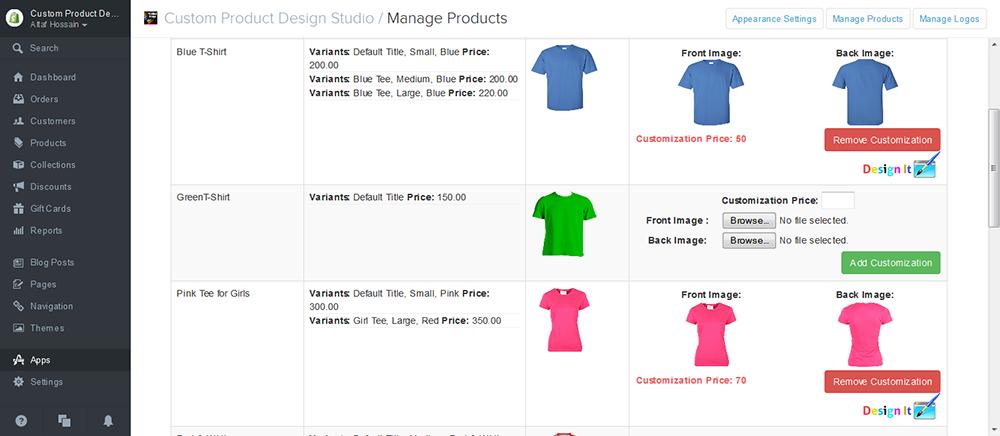 Tshirt product design studio ecommerce plugins for for Online store design