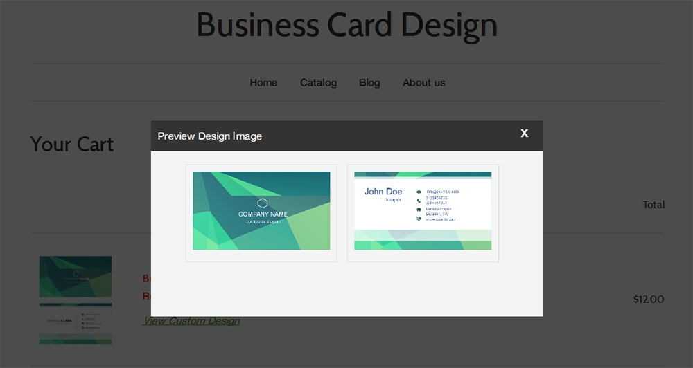 Business card design ecommerce plugins for online stores shopify large thumb thumb thumb reheart Gallery