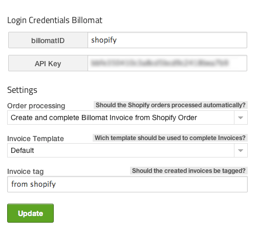 Billomat Online Invoicing Ecommerce Plugins For Online Stores - Shopify invoice template