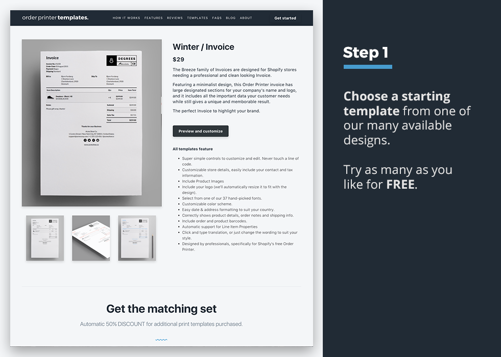 Order Printer Templates Ecommerce Plugins For Online Stores - Shopify design templates