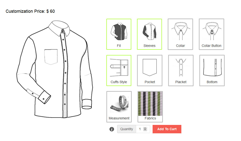 Tailor Shirt Shop – Ecommerce Plugins for Online Stores
