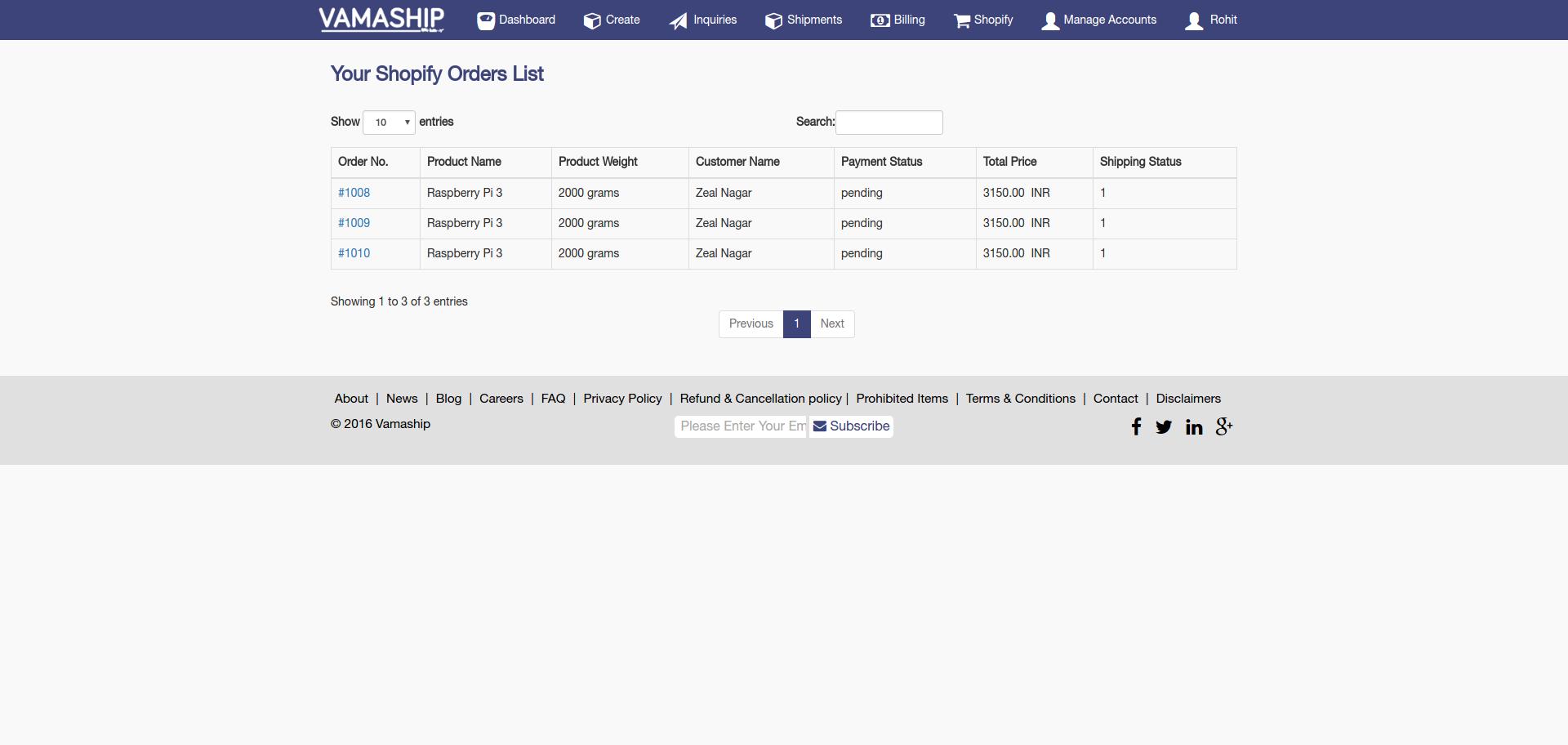 Shopify Publish Theme: Shopify Merchant List