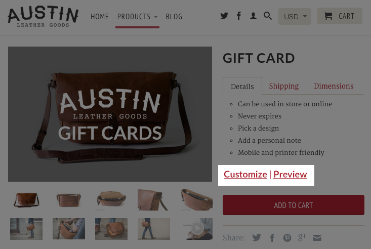 Shopkeeper Gift Cards Shopify Gift Card App – Ecommerce Plugins for ...