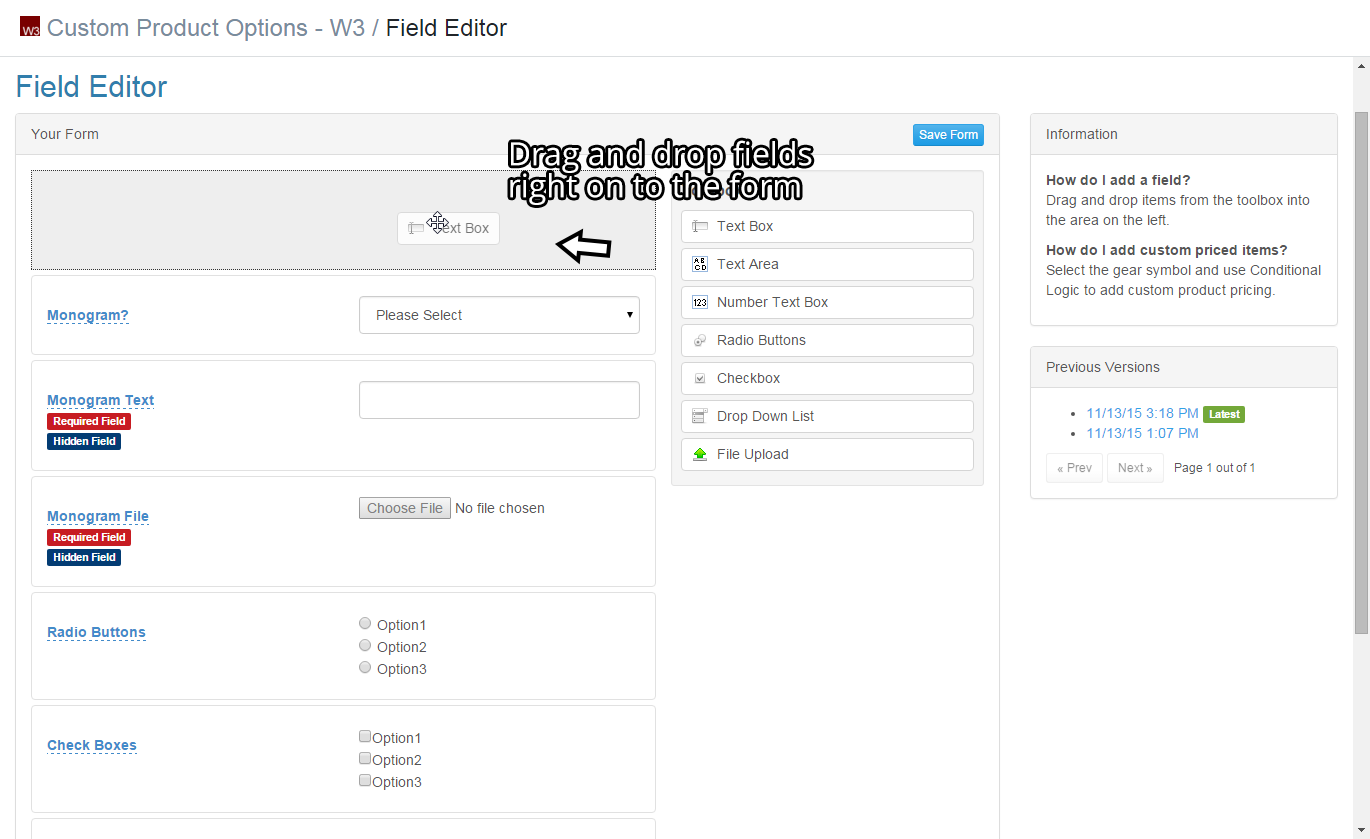Custom Product Options by W3 – Ecommerce Plugins for Online Stores ...