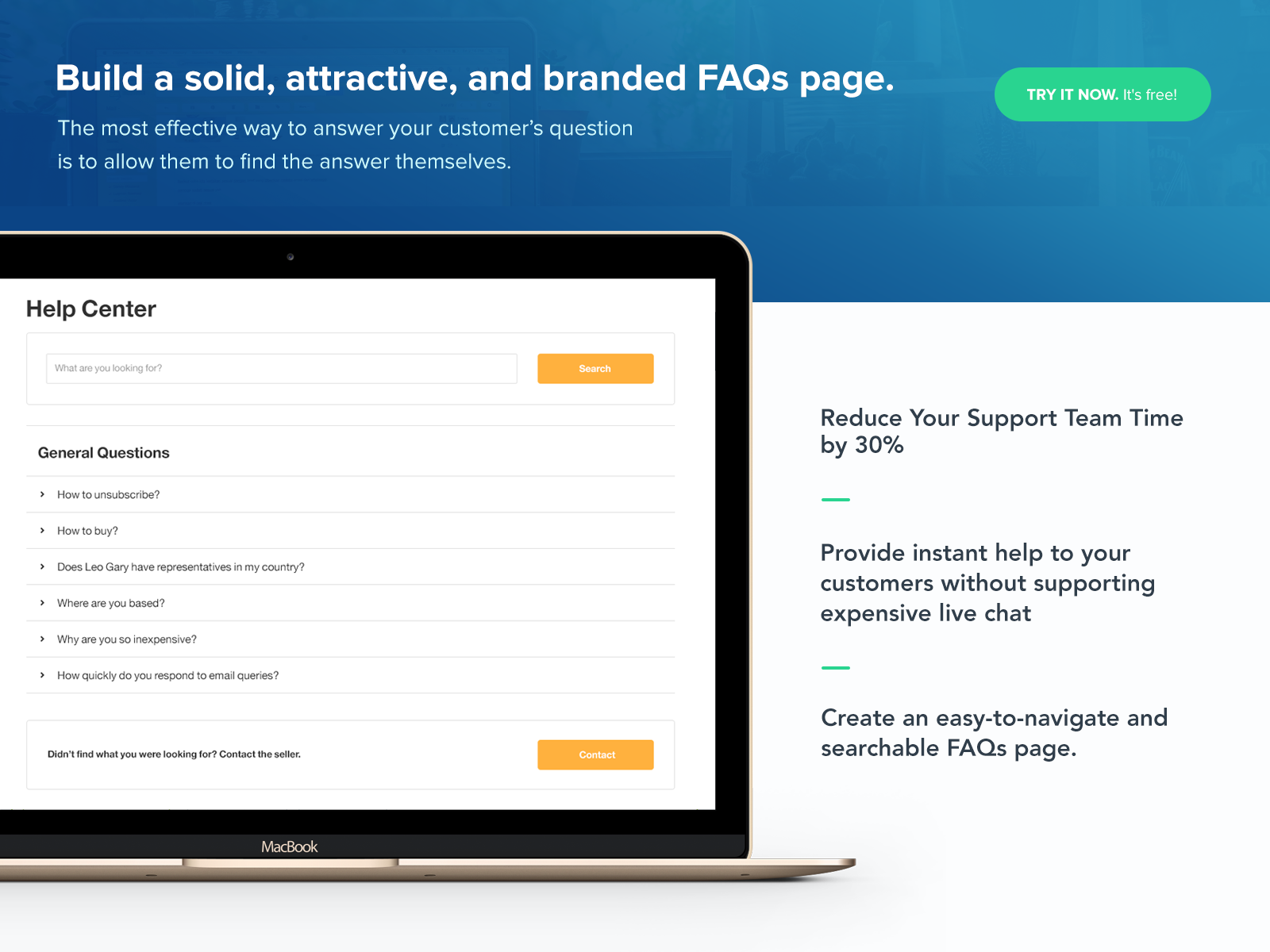 shopify how to make faq page