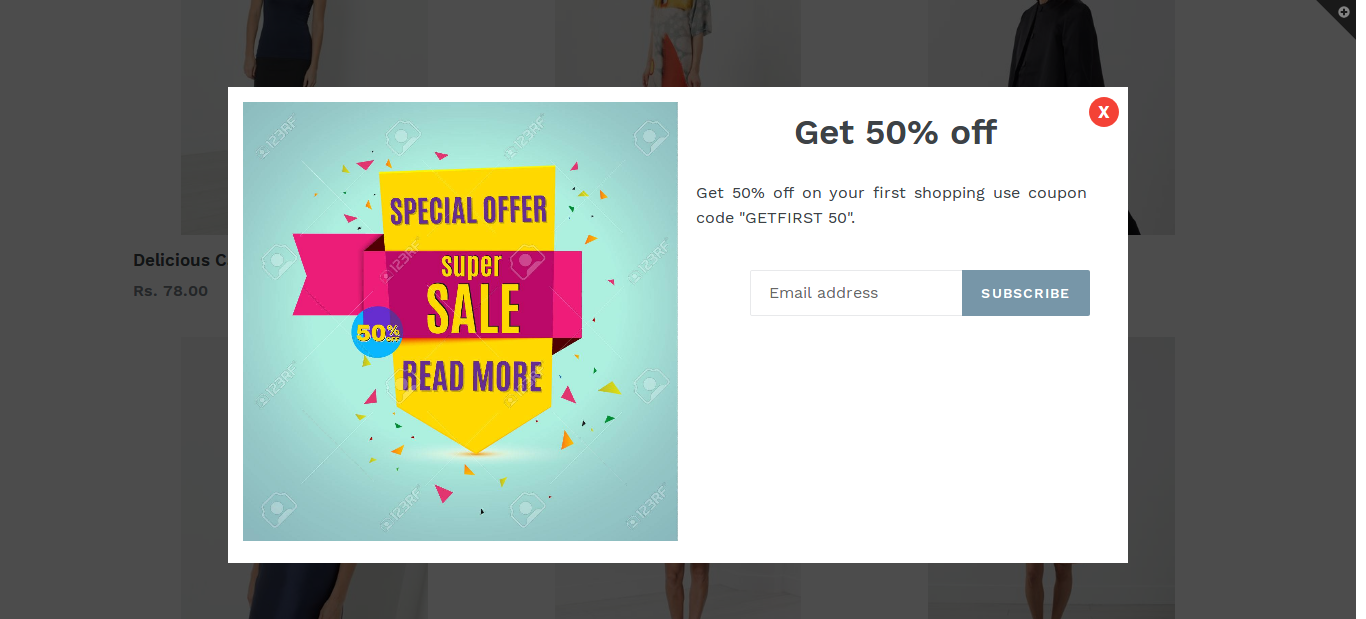 Pixelnx promotion popup ecommerce plugins for online stores screenshots ccuart Gallery