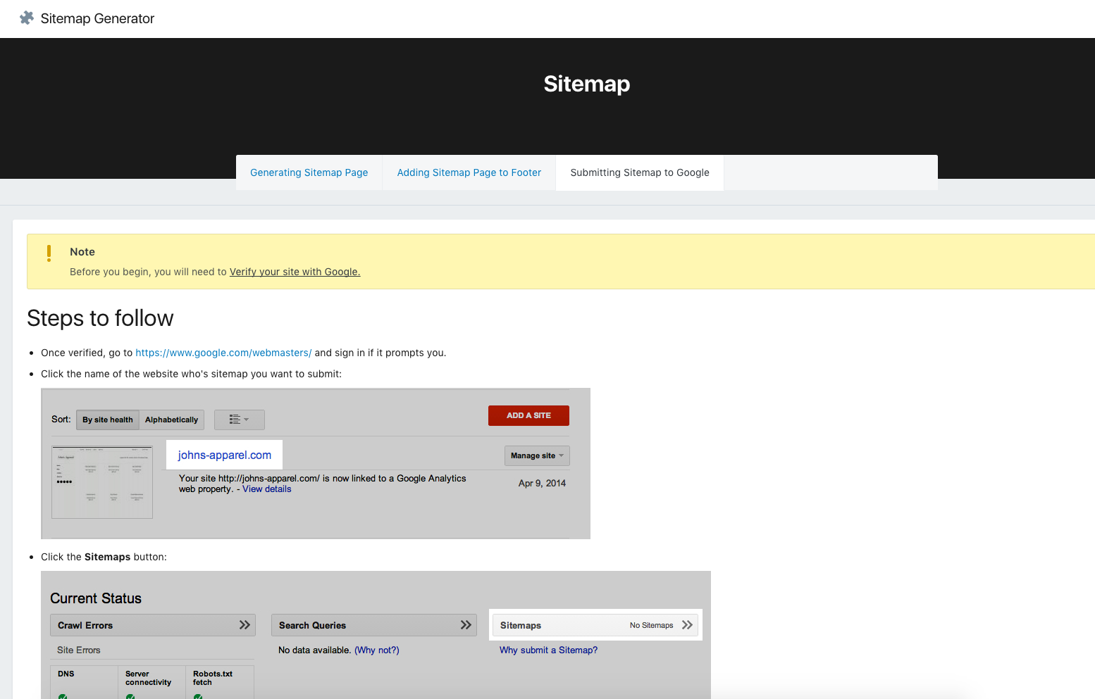 sitemap page generator ecommerce plugins for online stores