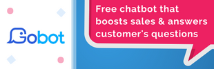 Gobot - Free Chatbot - Boost Sales + Leads